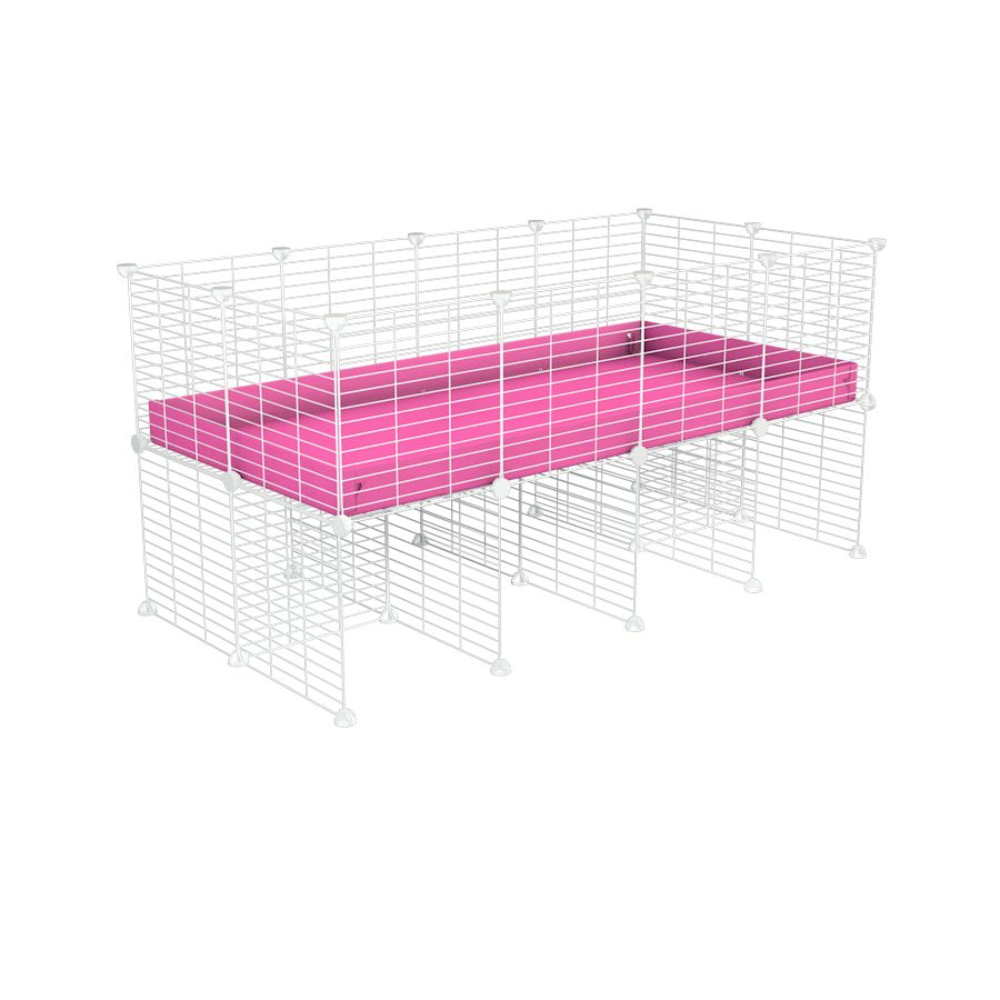a 4x2 CC cage for guinea pigs with a stand pink correx and 9x9 white grids sold in Uk by kavee