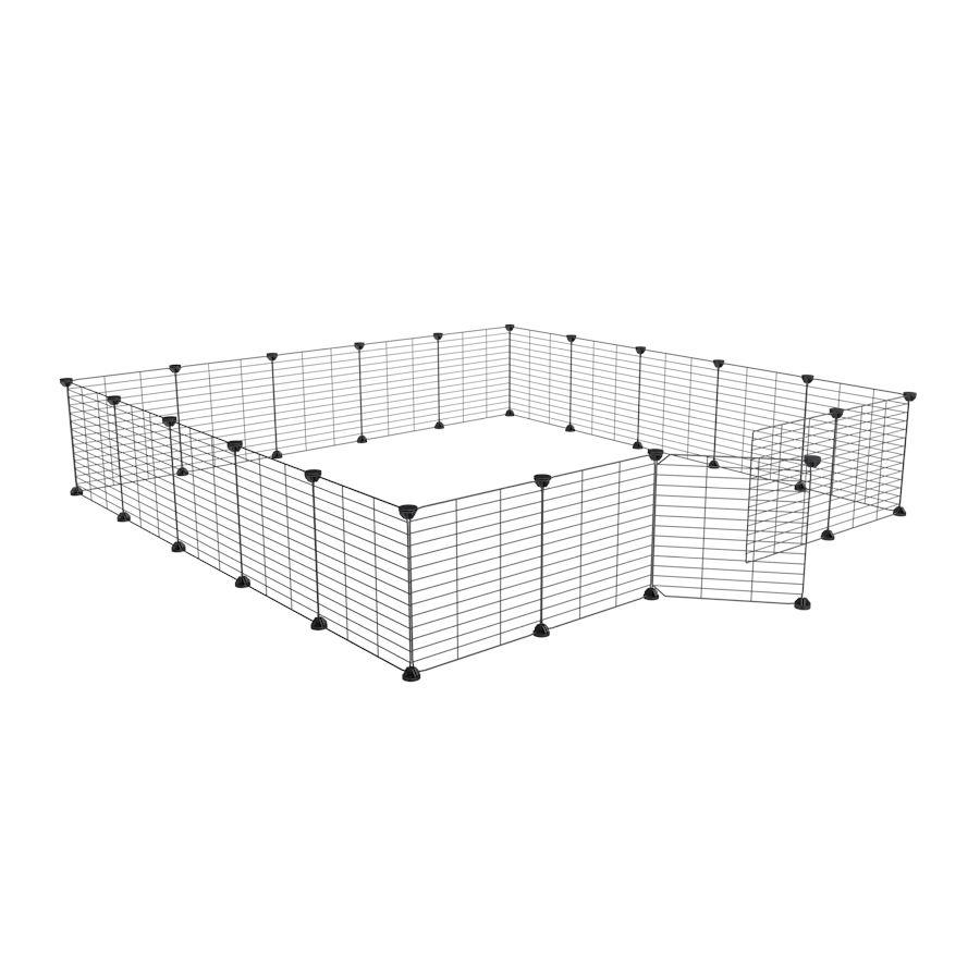 a 5x5 outdoor modular playpen with small hole safe C&C grids for guinea pigs or Rabbits by brand kavee