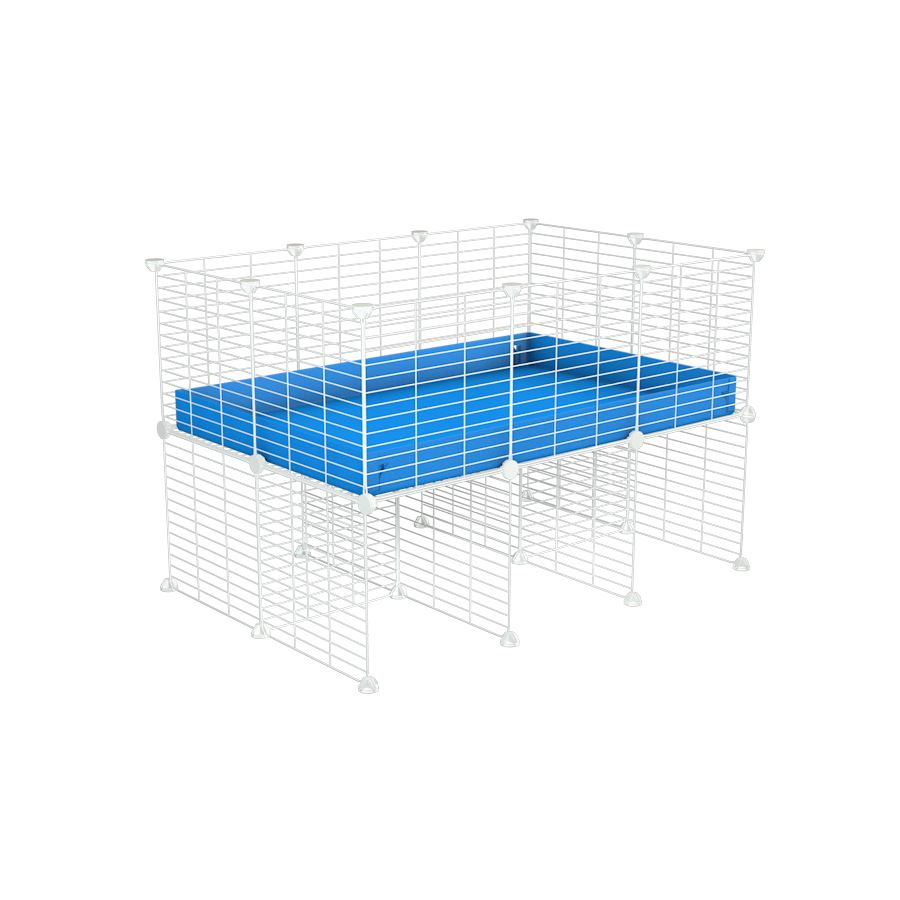 a 3x2 CC cage for guinea pigs with a stand blue correx and 9x9 white C&C grids sold in Uk by kavee