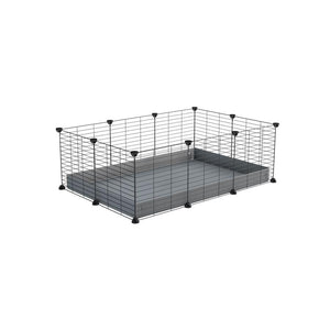 A cheap 3x2 C&C cage for guinea pig with grey coroplast and baby proof grids from brand kavee