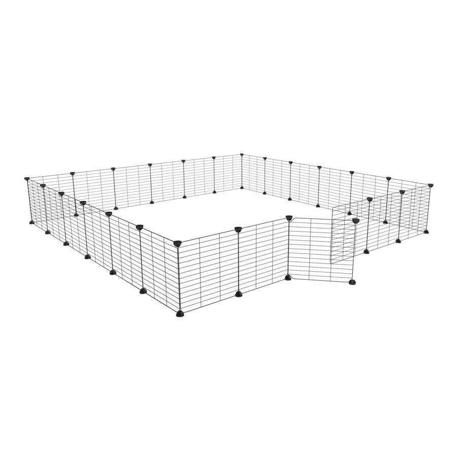 a 6x6 outdoor modular playpen with small hole safe C&C grids for guinea pigs or Rabbits by brand kavee