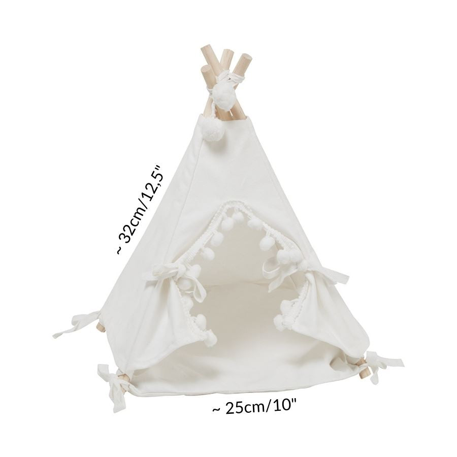 dimension of white tipi teepee tent tepee for guinea pigs accessory hidey house kavee UK