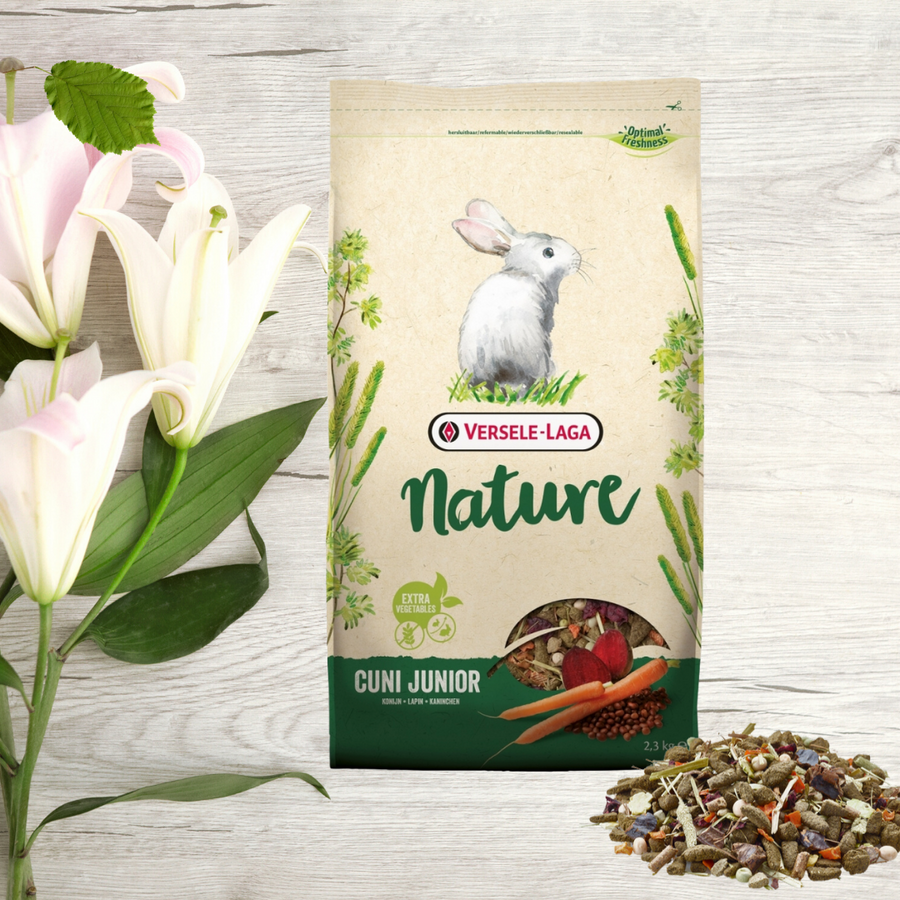 Junior Rabbit Food pellets healthy mix Grain-free Nature Versele Laga
