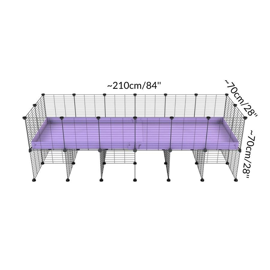 Size of a 6x2 CC cage for guinea pigs with a stand purple lilac pastel correx and 9x9 grids sold in Uk by kavee