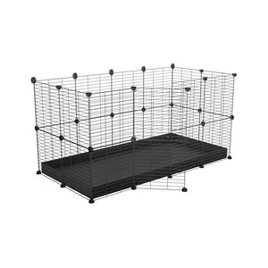 A 4x2 C&C rabbit cage with safe small meshing baby bars grids and black coroplast by kavee UK