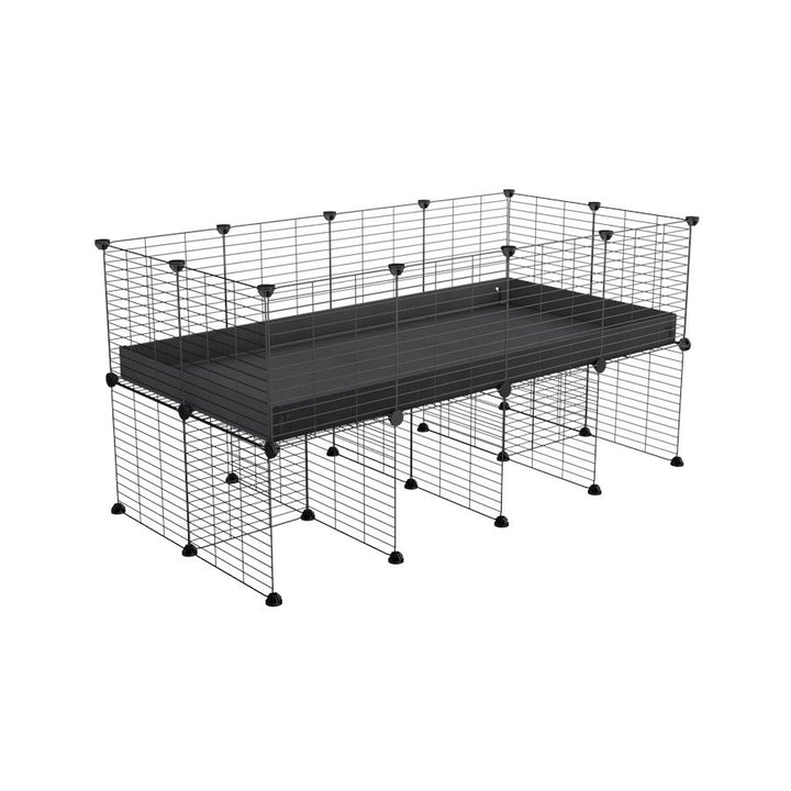a 4x2 CC cage for guinea pigs with a stand black correx and 9x9 grids sold in Uk by kavee