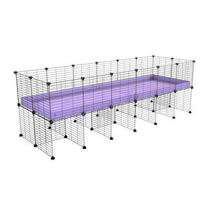 a 6x2 CC cage for guinea pigs with a stand purple lilac pastel correx and 9x9 grids sold in Uk by kavee