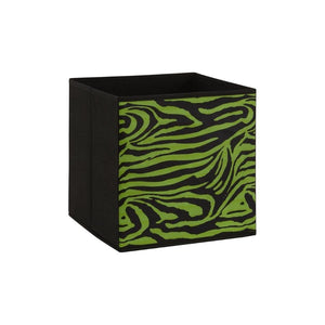 One storage box cube for guinea pig C&C cage green black zebra Kavee