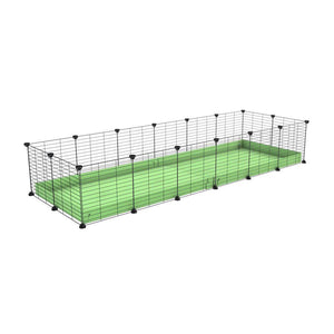 A cheap 6x2 C&C cage for guinea pig with green pastel pistachio coroplast and baby grids from brand kavee