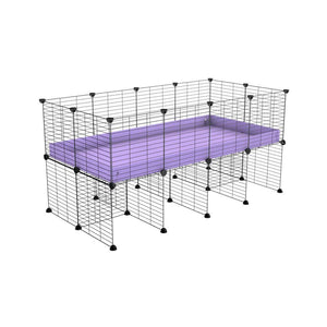 a 4x2 CC cage for guinea pigs with a stand purple lilac pastel correx and 9x9 grids sold in Uk by kavee