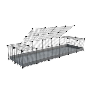 A 2x6 C and C cage for guinea pigs with grey coroplast a lid and small hole grids from brand kavee