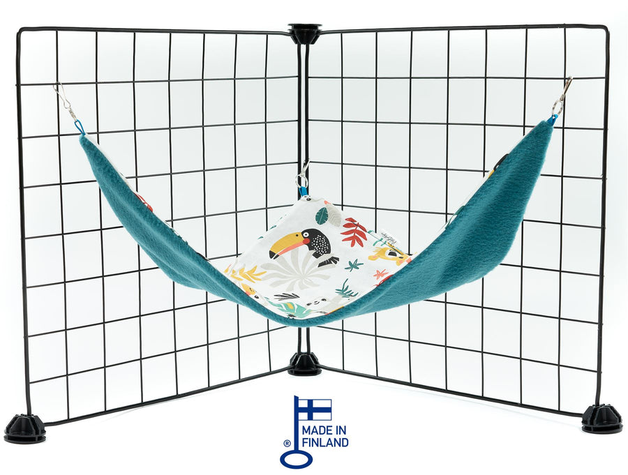 guinea pig accessory hammock fleece blue jungle handmade kavee c and c cage grids