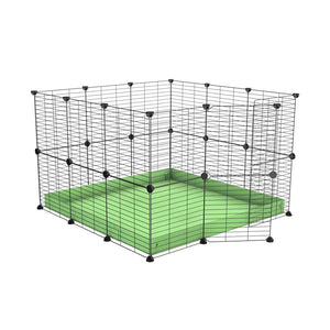 A 3x3 C and C rabbit cage with safe small mesh grids and green pistachio coroplast by kavee UK