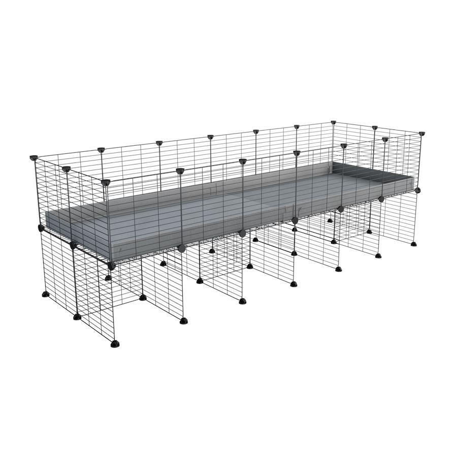 a 6x2 CC cage for guinea pigs with a stand grey correx and 9x9 grids sold in Uk by kavee