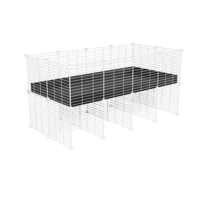 a 4x2 CC cage for guinea pigs with a stand black correx and 9x9 white CC grids sold in Uk by kavee