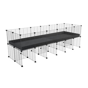 a 6x2 CC cage for guinea pigs with a stand black correx and 9x9 grids sold in Uk by kavee