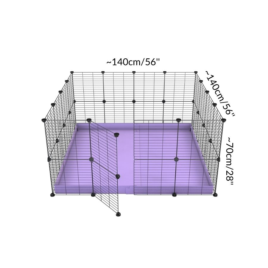 Dimension for A 4x4 C&C rabbit cage with safe small meshing baby bars grids and purple coroplast by kavee UK