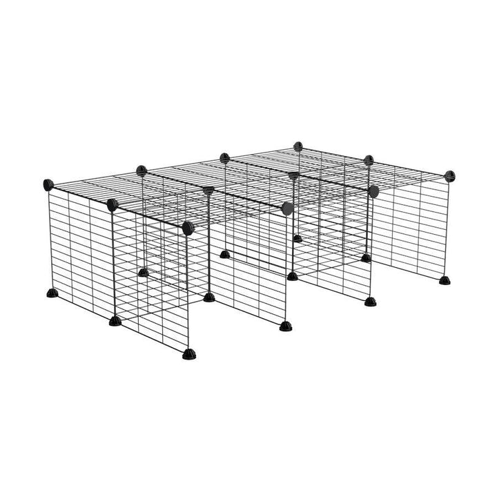 A C&C guinea pig cage stand size 3x2 with safe baby proof grids by kavee UK