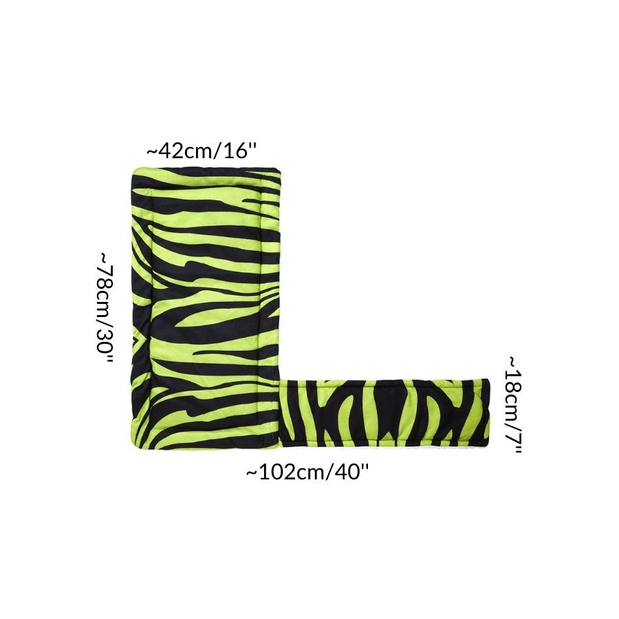 Dimension size measurement guinea pig fleece liner ramp cover loft zebra green neon cc c&C cnc c and c cage kavee rabbit