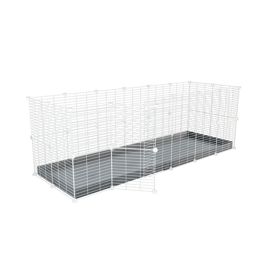 A 6x2 C and C rabbit cage with safe small size baby proof white C and C grids and grey coroplast by kavee UK