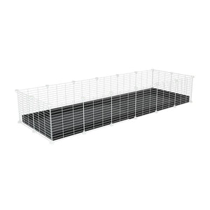 A cheap 6x2 C&C cage for guinea pig with black coroplast and baby proof white grids from brand kavee