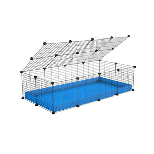 A 2x4 C and C cage for guinea pigs with blue coroplast a lid and small hole grids from brand kavee
