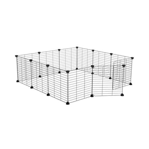 a 3x3 outdoor modular playpen with baby C and C grids for guinea pigs or Rabbits by brand kavee