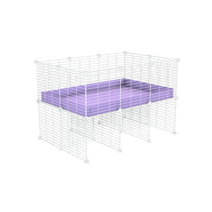 a 3x2 CC cage for guinea pigs with a stand purple lilac pastel correx and 9x9 white grids sold in Uk by kavee
