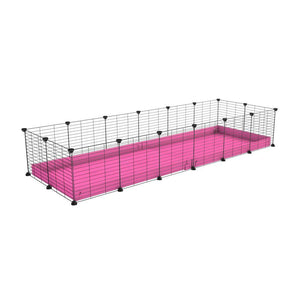 A cheap 6x2 C&C cage for guinea pig with pink coroplast and baby grids from brand kavee