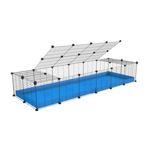 A 2x6 C and C cage for guinea pigs with blue coroplast a lid and small hole grids from brand kavee