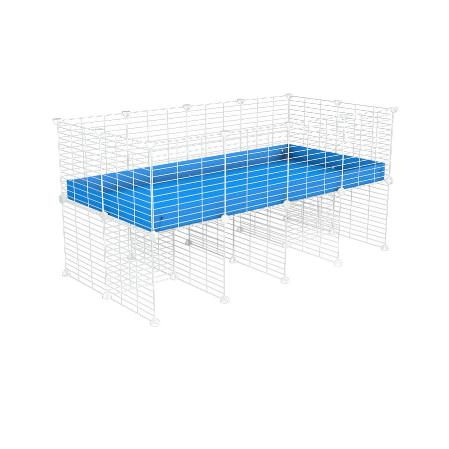a 4x2 CC cage for guinea pigs with a stand blue correx and 9x9 white grids sold in Uk by kavee