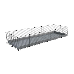 A cheap 6x2 C&C cage for guinea pig with grey coroplast and baby grids from brand kavee