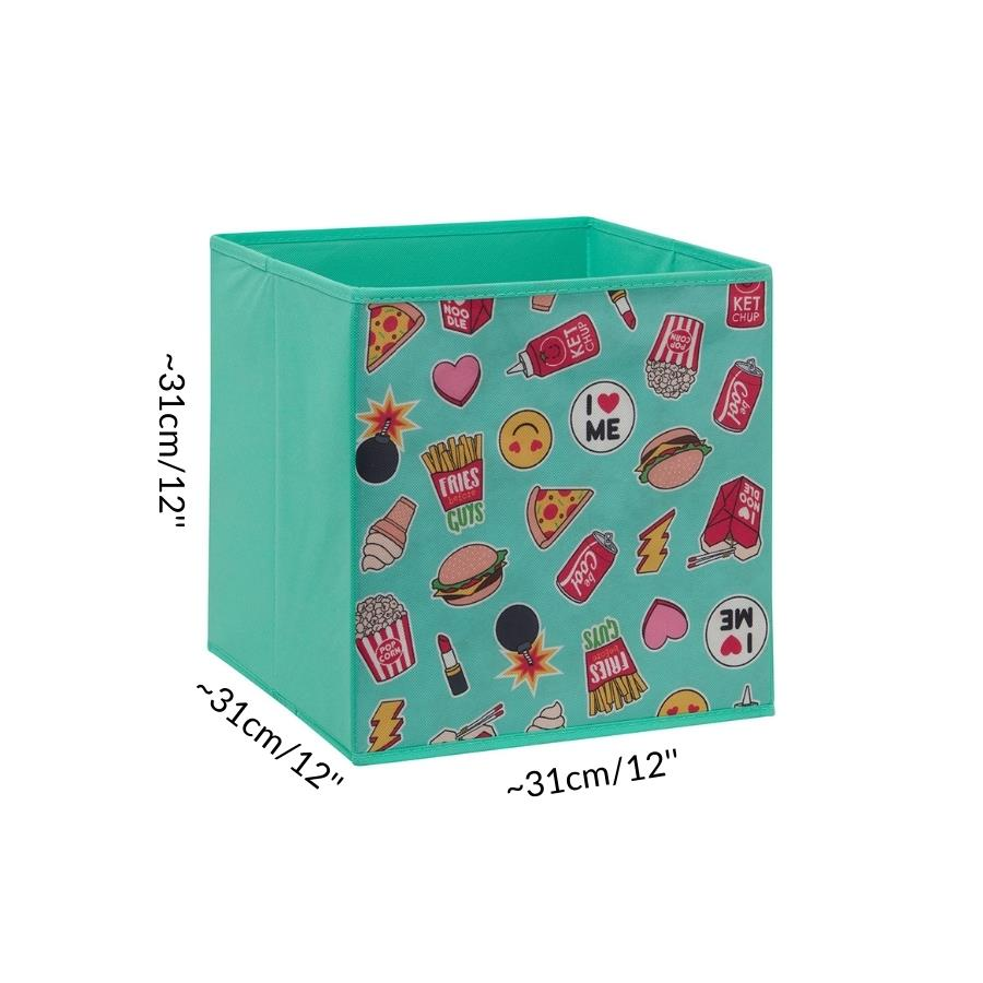 dimension size cube storage box for C&C cage kavee guinea pig teal burger UK