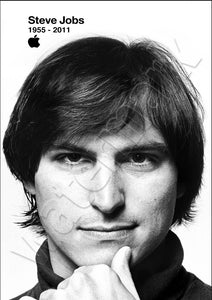 Rest In Peace Steve Jobs >> Young Steve Jobs Rip Rest In Peace Black And White Poster Tru