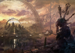 Asuras Wrath Landscape Viewpoint Poster