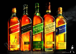 Johnnie Walker Scotch Whisky Family Brand Poster