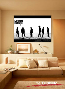 Linkin Park Black And White Poster