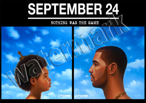Drake September 24 Nothing Was The Same Albums Poster