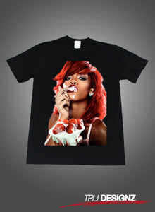 Rihanna Strawberries Graphic T-Shirt