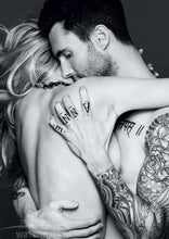 Adam Levine Black And White Tattoo Poster