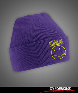 Nirvana Smiley Beanie Hat