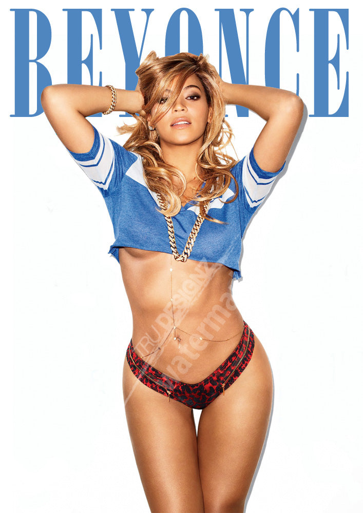 Beyonce Football Jersey  Poster