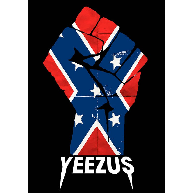 Kanye West Yeezus Tour Confederate Flag Fist Logo Poster