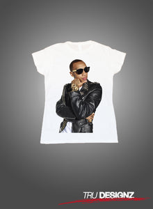 Tyga Leather Jacket Graphic Womens T-Shirt