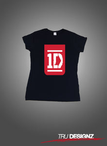 One Direction 1D Logo Womens T-Shirt