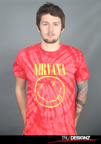 Nirvana Smiley Logo Tie-Dye T-Shirt