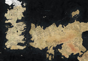Game of Thrones Westeros Map Canvas