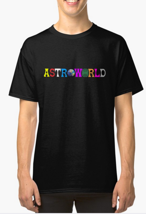 Travis Scott Astroworld text Logo T-Shirt