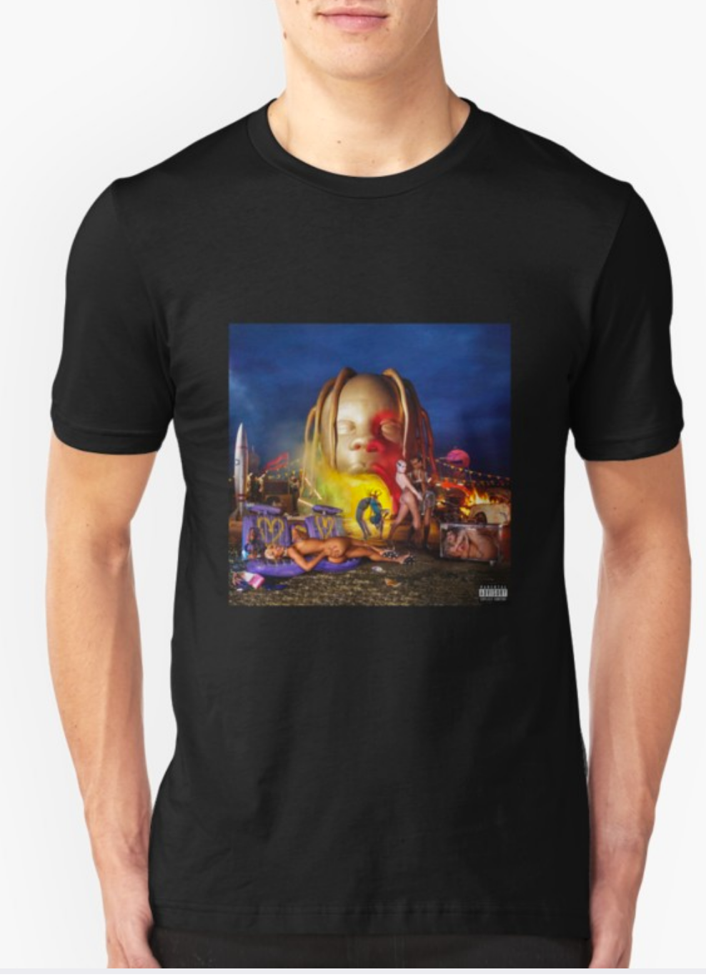 Travis Scott Explicit Astroworld Album Cover T-shirt