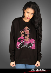 Cardi B Pop Art Women's Unisex Sweatshirt